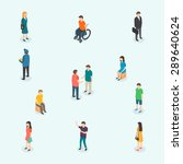 isometric 3d vector people.... | Shutterstock .eps vector #289640624