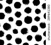 seamless dot pattern. hand... | Shutterstock .eps vector #289641380