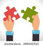 teamwork design over white...   Shutterstock .eps vector #289642523