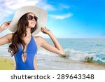 swimsuit  fashion  tan. | Shutterstock . vector #289643348