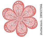 cute flower isolated on white. | Shutterstock . vector #289657046