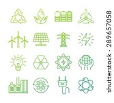 Vector Ecology Signs And Icons...