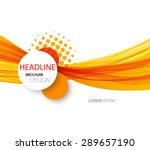 vector abstract orange wave... | Shutterstock .eps vector #289657190