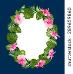 Blossom Flowers Wreath With...