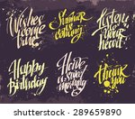 hand drawn lettering for card.... | Shutterstock .eps vector #289659890