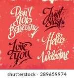 hand drawn lettering for card.... | Shutterstock .eps vector #289659974