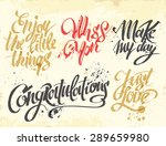 hand drawn lettering for card.... | Shutterstock .eps vector #289659980