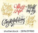 hand drawn lettering for card.... | Shutterstock .eps vector #289659980