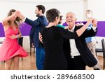 group of people dancing in... | Shutterstock . vector #289668500