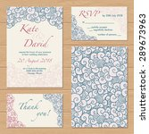 vector wedding set of templates ... | Shutterstock .eps vector #289673963