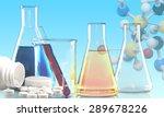 test tube  beaker  chemistry. | Shutterstock . vector #289678226