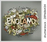 england hand lettering and... | Shutterstock .eps vector #289686434