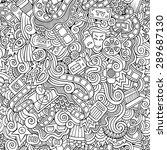 cartoon vector doodles hand... | Shutterstock .eps vector #289687130
