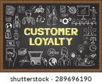 doodles about customer loyalty... | Shutterstock .eps vector #289696190