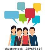 social network design over...   Shutterstock .eps vector #289698614