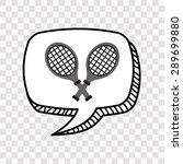 tennis design  vector... | Shutterstock .eps vector #289699880