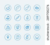 food line icons. vector eps10  | Shutterstock .eps vector #289700276