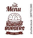 food digital design  vector... | Shutterstock .eps vector #289701380