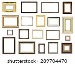 set of picture frames on white... | Shutterstock . vector #289704470