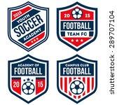 football badge set | Shutterstock .eps vector #289707104