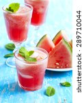 watermelon smoothies | Shutterstock . vector #289710044