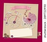 raster baby girl shower...   Shutterstock . vector #289722950