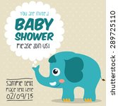 baby shower colorful card... | Shutterstock .eps vector #289725110