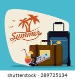 summer design over blue... | Shutterstock .eps vector #289725134
