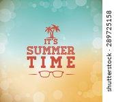 summer design over blur... | Shutterstock .eps vector #289725158
