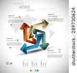 business infographic template... | Shutterstock .eps vector #289730624