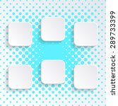vector blank white square...