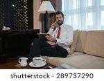 smiling handsome businessman... | Shutterstock . vector #289737290