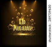 creative golden text eid... | Shutterstock .eps vector #289739630