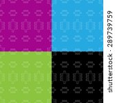 flat repeating pattern with... | Shutterstock .eps vector #289739759