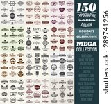 150 typographic label design... | Shutterstock .eps vector #289741256