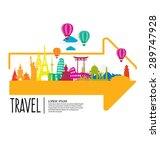 travel and tourism concept... | Shutterstock .eps vector #289747928