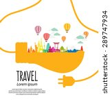 travel and tourism concept... | Shutterstock .eps vector #289747934