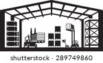 industrial warehouse scene  ... | Shutterstock .eps vector #289749860