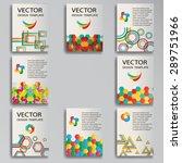 vector template poster set....   Shutterstock .eps vector #289751966