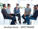 group therapy in session... | Shutterstock . vector #289758680