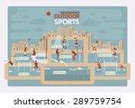outdoor sports info graphics | Shutterstock .eps vector #289759754