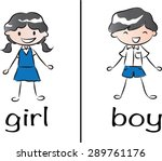 boy and girl signs | Shutterstock .eps vector #289761176
