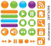 gel  shiny vector icon set for... | Shutterstock .eps vector #28976398