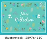 new collection inscription with ... | Shutterstock . vector #289764110