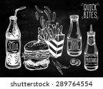 fast food set vintage linear... | Shutterstock .eps vector #289764554