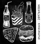 fast food set vintage linear... | Shutterstock .eps vector #289764584
