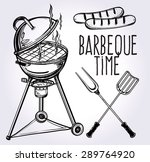 a set of retro style barbecue... | Shutterstock .eps vector #289764920