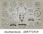 set of vintage frames and... | Shutterstock .eps vector #289771919