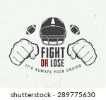 american football or rugby... | Shutterstock .eps vector #289775630