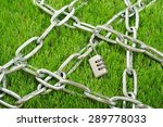 silver key to dial up. iron... | Shutterstock . vector #289778033